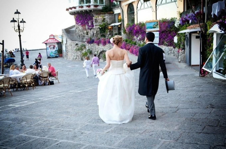 romantic elopement in Positano